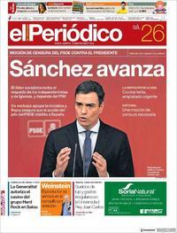 Portada El Periódico 2018-05-26