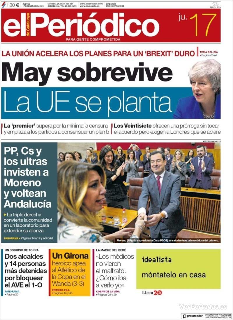 Portada El Periódico 2019-01-17