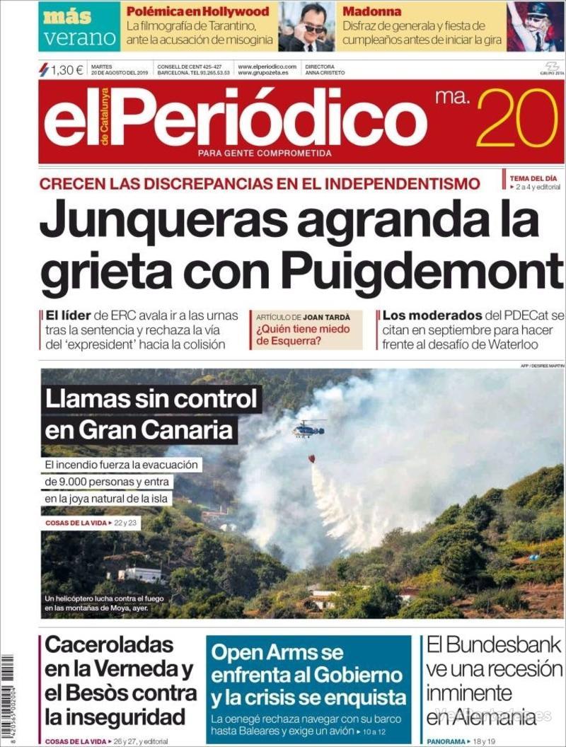 Portada Diario de Sevilla 2019-08-20
