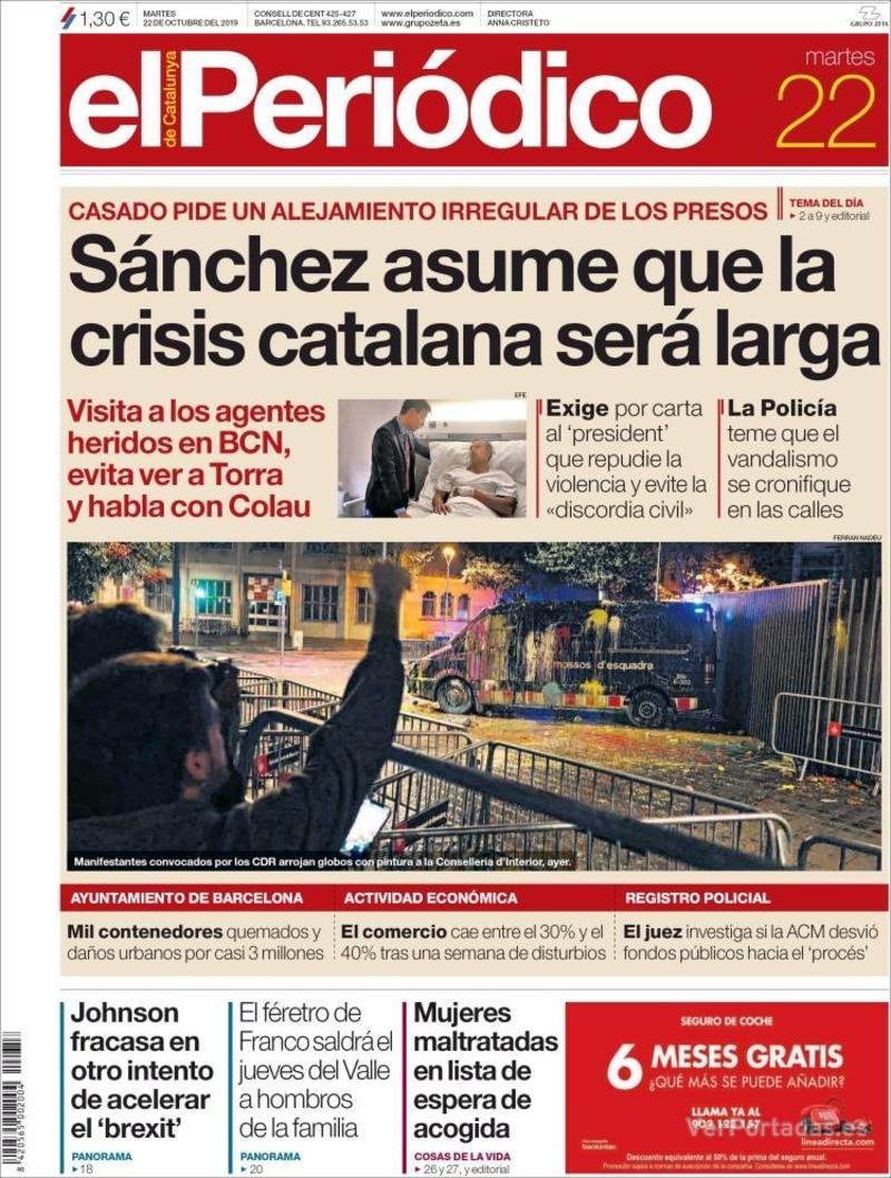 Portada Diario de Sevilla 2019-10-22