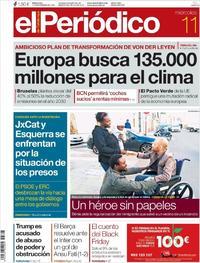Portada El Periódico 2019-12-11