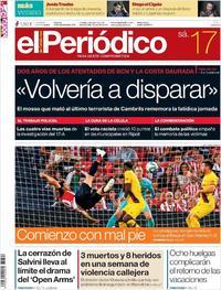Portada El Periódico 2019-08-17