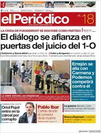 Portada El Periódico 2019-01-18