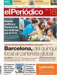 Portada El Periódico 2019-08-18