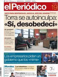 Portada El Periódico 2019-11-19