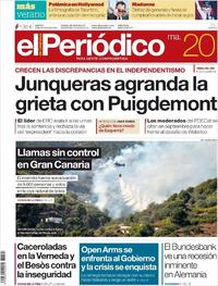 Portada El Periódico 2019-08-20