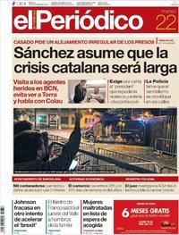 Portada El Periódico 2019-10-22