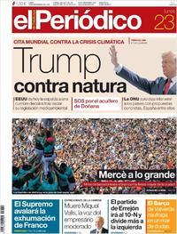 Portada El Periódico 2019-09-23