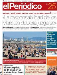 Portada El Periódico 2019-03-25