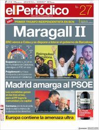 Portada El Periódico 2019-05-27