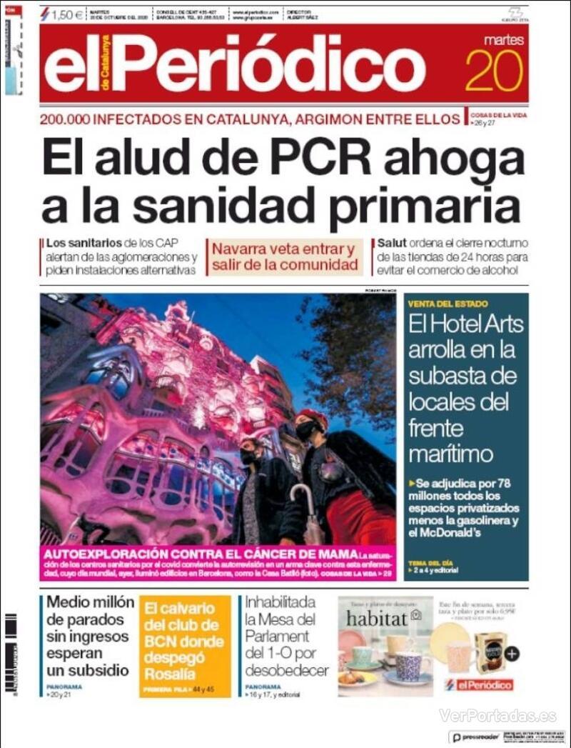 Portada Diario de Sevilla 2020-10-20