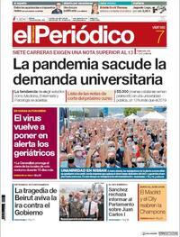 Portada El Periódico 2020-08-07