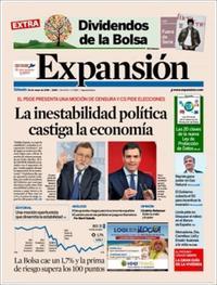 Portada Expansión 2018-05-26