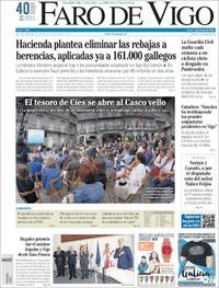 Portada Faro de Vigo 2018-07-19