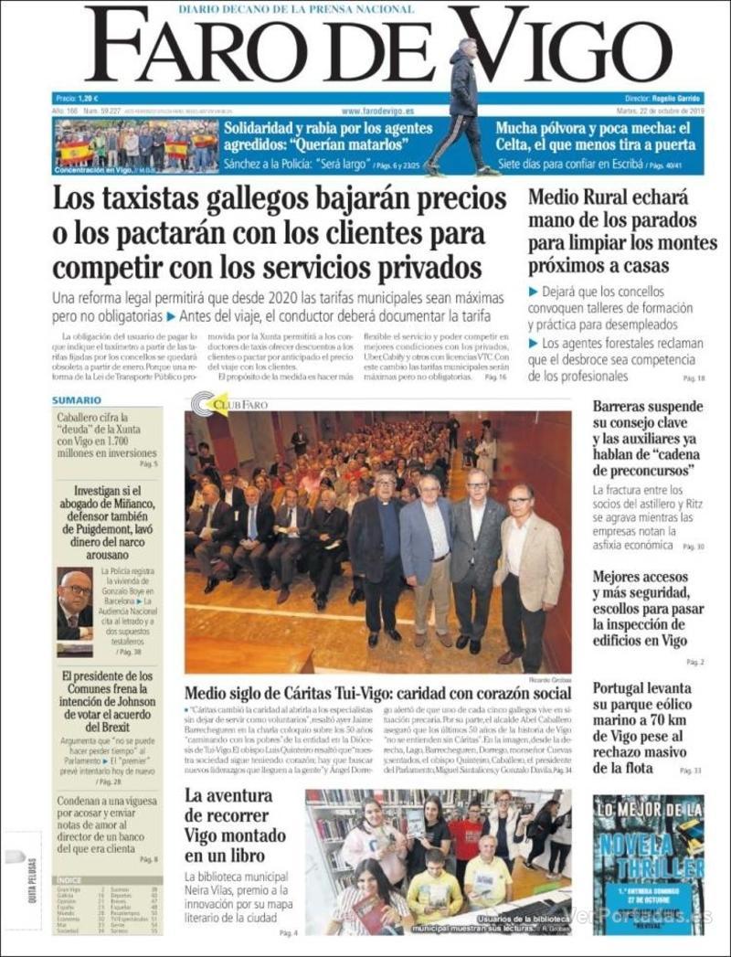 Portada El Diario Vasco 2019-10-22