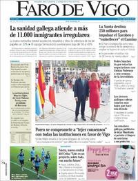 Portada Faro de Vigo 2019-07-16