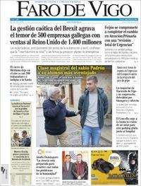 Portada Faro de Vigo 2019-01-17