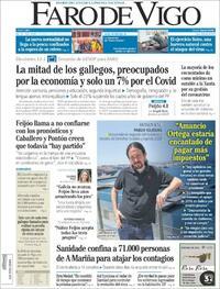 Portada Faro de Vigo 2020-07-06