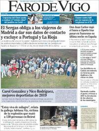 Portada Faro de Vigo 2020-08-06
