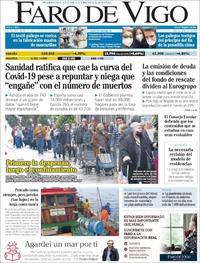 Portada Faro de Vigo 2020-04-08