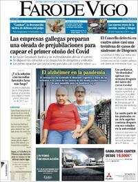 Portada Faro de Vigo 2020-09-21
