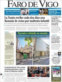 Portada Faro de Vigo 2020-01-28