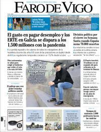 Portada Faro de Vigo 2021-03-04