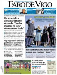 Portada Faro de Vigo 2021-01-21