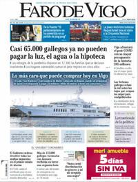 Portada Faro de Vigo 2021-10-23