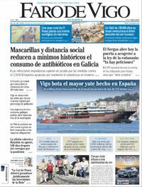 Portada Faro de Vigo 2021-06-25