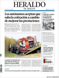 Portada Heraldo de Aragón 2018-11-15