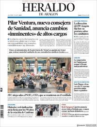 Portada Heraldo de Aragón 2018-07-19