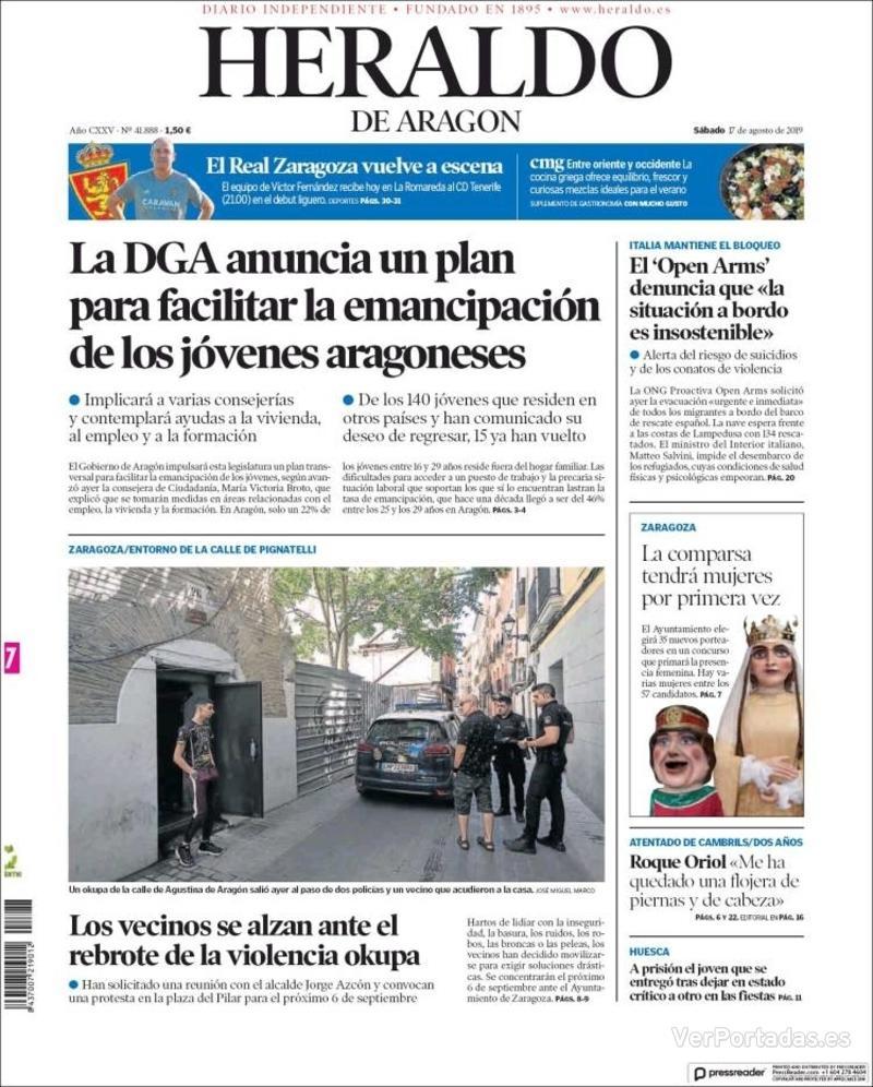 Portada Levante 2019-08-17
