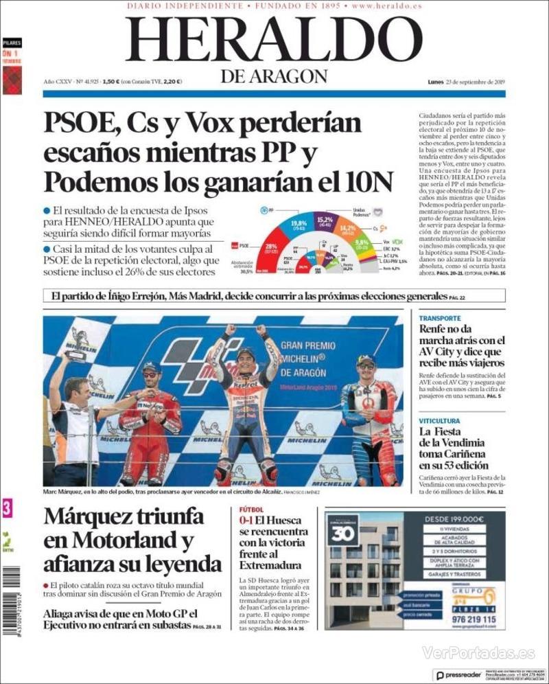Portada Levante 2019-09-23