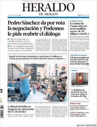 Portada Heraldo de Aragón 2019-07-16