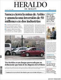 Portada Heraldo de Aragón 2019-01-17