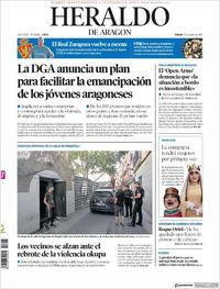 Portada Heraldo de Aragón 2019-08-17
