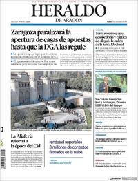 Portada Heraldo de Aragón 2019-11-19