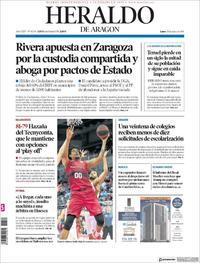 Portada Heraldo de Aragón 2019-03-25