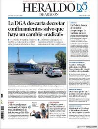 Portada Heraldo de Aragón 2020-07-06
