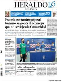 Portada Heraldo de Aragón 2020-08-07