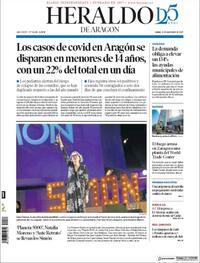 Portada Heraldo de Aragón 2020-09-21
