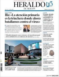Portada Heraldo de Aragón 2020-09-23