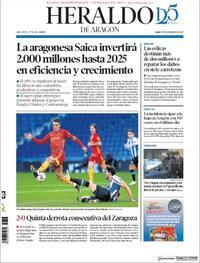 Portada Heraldo de Aragón 2020-11-30