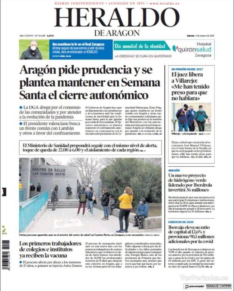 Portada Levante 2021-03-04