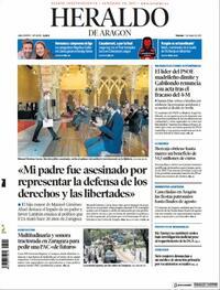 Portada Heraldo de Aragón 2021-05-07
