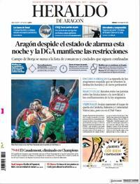 Portada Heraldo de Aragón 2021-05-08