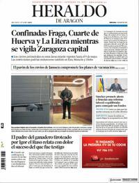 Portada Heraldo de Aragón 2021-04-14
