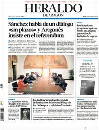Portada Heraldo de Aragón 2021-09-16