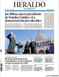 Portada Heraldo de Aragón 2021-01-21
